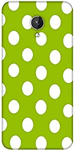 Snoogg Green Polka Dotted Designer Protective Back Case Cover For Micromax Canvas Spark Q380