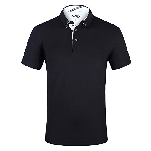 EAGEGOF Homme Polo Sport T-Shirt Manche Courte Technique Performance Golf Tennis Course Confortable...
