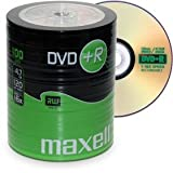 100 Maxell DVD+R 4,7 GB 16x Speed in Shrink