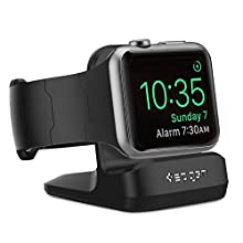 Spigen S350 Designed for Apple Watch Stand with Night Stand Mode for Series 5 / Series 4 / Series 3 / Series 2 / Series 1 / 44mm / 42mm / 40mm / 38mm, Patent Pending - Black