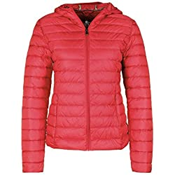 JOTT - Veste - Duvet - Couleur Unie - Manches Longues - Femme - Rouge, XL