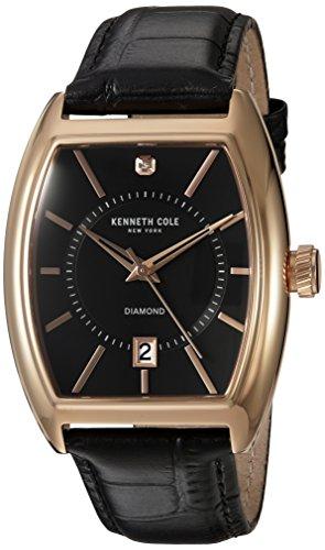 kenneth-cole-new-york-diamante-da-uomo-al-quarzo-in-acciaio-inox-e-pelle-dress-watch-colore-nero-mod