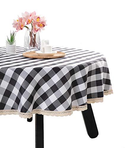 Nobildonna Gingham Karierten Tischdecke, rot & Weiß Checker, Spitze Tischdecke, Polyester, 70