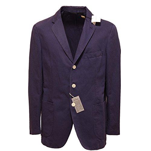 7192L giacca uomo viola BURBERRY cotone lino giacche jackets coats men [52]