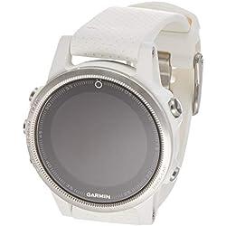 Garmin Fenix 5S - Reloj multideporte, con GPS y medidor de frecuencia cardiaca, lente de cristal y bisel de acero inoxidable, 42 mm, pulsera blanca