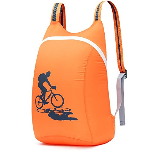 YYY-Outdoor pieghevole ultraleggera pacchetto primavera ed estate casuale borsa a tracolla per uomini e donne , dark green Orange
