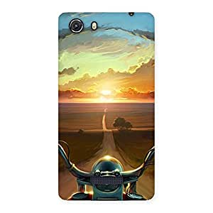 Delighted Wonder Cruise Way Multicolor Back Case Cover for Micromax Unite 3