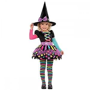 Déguisement sorcière coloré fille Halloween - 3 à 4 ans