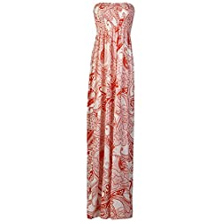Fast Fashion Mujer Maxi Vestido Plus Tamaño Leopard rayas Tie Dye Flores Impresión Paisley orange X-Large