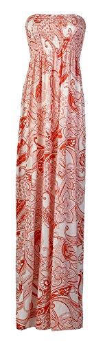 Fast Fashion Damen Maxi Kleid Plus Größe Leopardstreifen Tie-Dye Blumendruck (Maxi-kleid Plus)