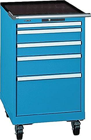 Chest of Drawers H990XB564XT7251X502x100150x 300Blue Va. Load 75kg Key