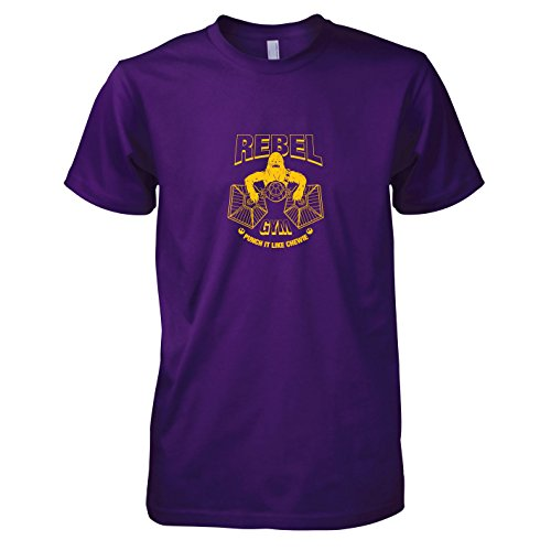 TEXLAB - Rebel Gym - Herren T-Shirt, Größe XXL, violett