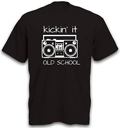 T-Shirt Ghettoblaster Old School Tapedeck Tape Kassettenspieler Kassettenrekorder 80er Musik Radio Gr. 3XL