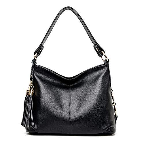 Vyaaa Damen Handtasche Umhängetaschen für Frauen Wasserdichte Reiseschultasche Schwarz