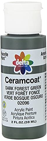 Ceramcoat Acrylic Paint 2oz-Dark Forest Green - Opaque