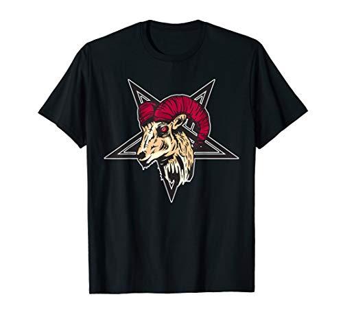 Pentagramm Baphomet Ziege Teufelshörner Sabbat Design T-Shirt