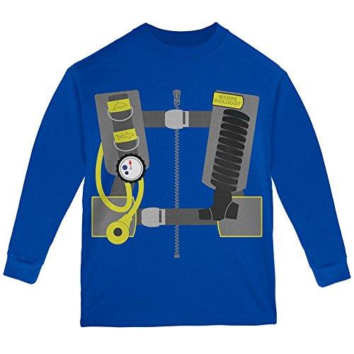 Meeresbiologe Taucher Kostüm Jugend Langarm T Shirt Royal YXL (Taucher Halloween-kostüm)