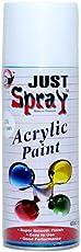 JUST Spray Multipurpose Acrylic Spray Paint White Color (400ml)