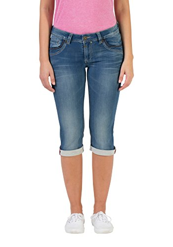 Timezone Damen Slim TaliTZ Shorts, Blau (Blue Denim wash 3041), W28