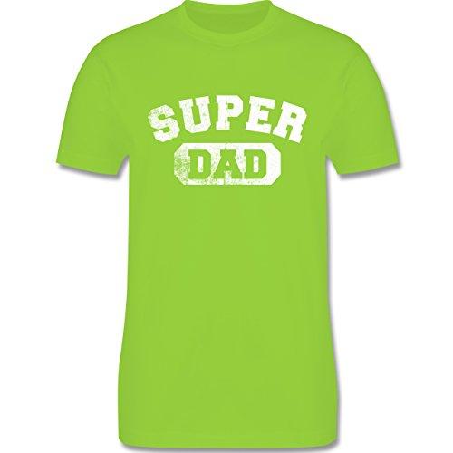 Vatertag - Super Dad - Vintage-&Collegestil - Herren Premium T-Shirt Hellgrün