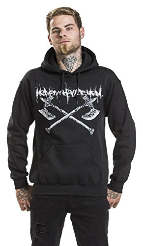 Heaven Shall Burn Axes Sweat à capuche noir Noir
