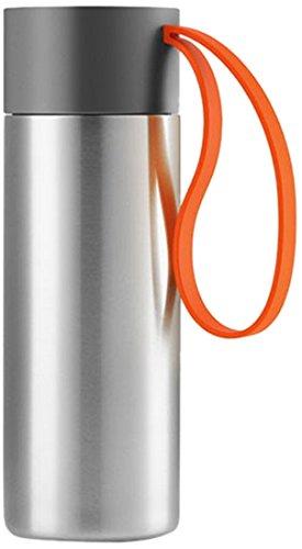 Eva Solo Thermos 567463 - Gris et Orange - Acier Inoxydable, Plastique et Silicone