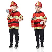Milly & Ted Fireman Dress Up Set - Childrens Role Play Outfit - Boys Fancy Dress