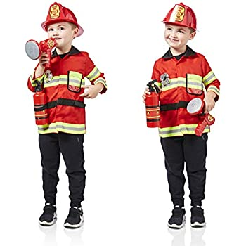 Adulto Fire Fighter-Nero Costume Set
