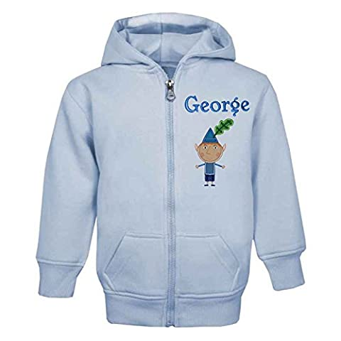 BEN (BEN & HOLLY'S LITTLE KINGDOM) PERSONALISED ZIP FRONT HOODIE