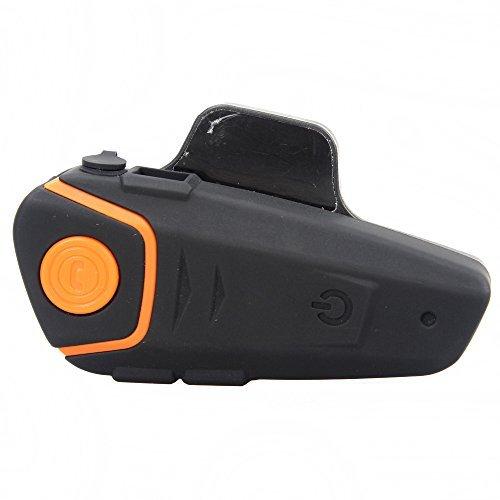 Boblov BT-S2 1000M BT casco del motociclo auricolare Bluetooth Moto Intercom auricolare citofono citofono FM (Pack 1 con 1 set auricolare)