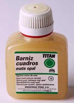 TITAN - BARNIZ CUADROS MATE 1L