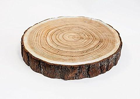 Noël en bois rustique plat à tarte 24cm Rustique Mariage
