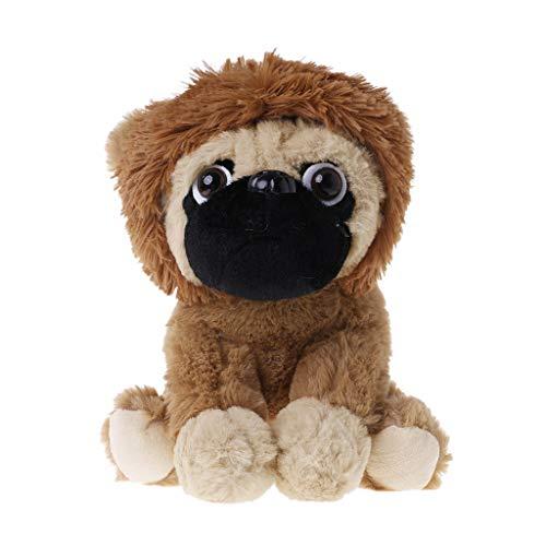 ZJL220 Große Plüschtiere Mops Hund In 6 Kostüme Kuschelweiches Spielzeug Mädchen Kinder Geschenk Lion (Kostüme Lion Baby)