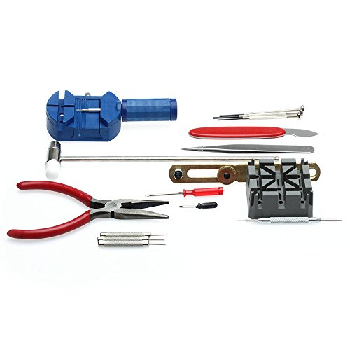 Generic 6955170801480 Neu 16pcs Deluxe Uhr Öffner Werkzeug Kit Reparatur Pin Remover -