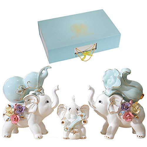 Xianw Keramik Elefant Kunst Dekorationen, DIY Hauptdekorationen Art Decor, Kürbis Kohl Schlafzimmer Dekor,E