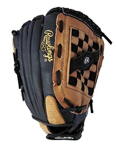 Rawlings Unisex Softball-Handschuh, 35,6 cm, langsame Stellung, rechts, Schwarz/Hellbraun, 14 Zoll - Rawlings Handschuhe