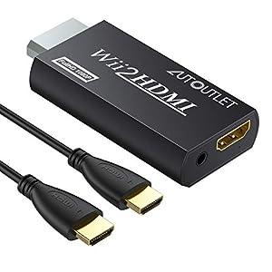 AUTOUTLET HDMI Konverter Adapter für Wii auf HDMI (Wii2HDMI) Wii-Signal auf HDMI