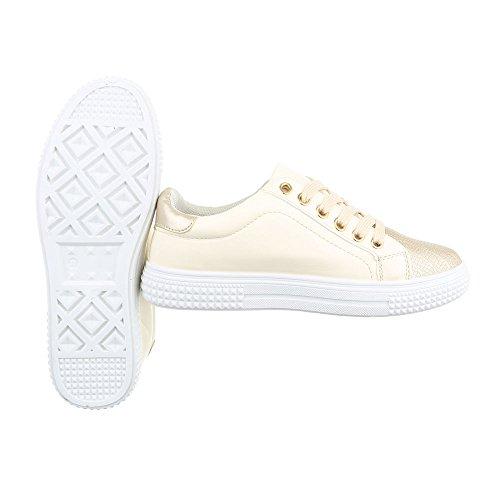 Ital-Design - Pantofole Donna Beige Gold FC8615