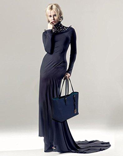 La Moda Delle Donne Di Leahward Desinger Borse Di Qualità Shopper Borse Signore Trendy Migliori Borse Di Vendita Di Grandi Dimensioni Cws00297 Marine