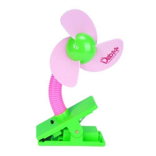 Cozyswan Mini Ventilateur à Clipper Portable Pour Bébé Poussette, Table, Landau (Rose)