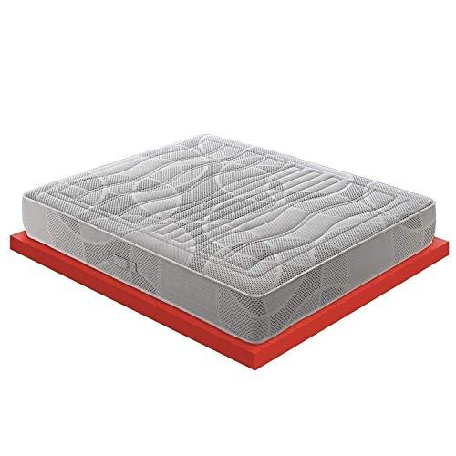 Matratze aus Memory-Schaum, 7 cm mit 11 Liegezonen, Mod. Polifoam 7 cm Memory Foam Orthopädisches Zertifikat Kridium Medico Klasse I mit Steppung für Doppelbett 180x200 -