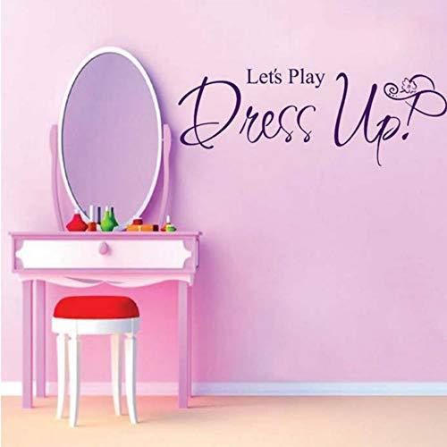 Xbwy Let'S Play Dress Up Tapete Wandbild Große Wandaufkleber Für Kinderzimmer Wandkunst Aufkleber Dekoration Zubehör 58X22 Cm