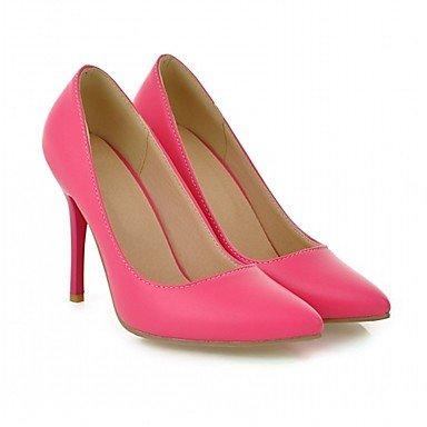 Talloni delle donne Primavera Estate Autunno Dress Comfort in similpelle ufficio & carriera Stiletto Heel Casual Nero Blu Viola Rosso Beige Black