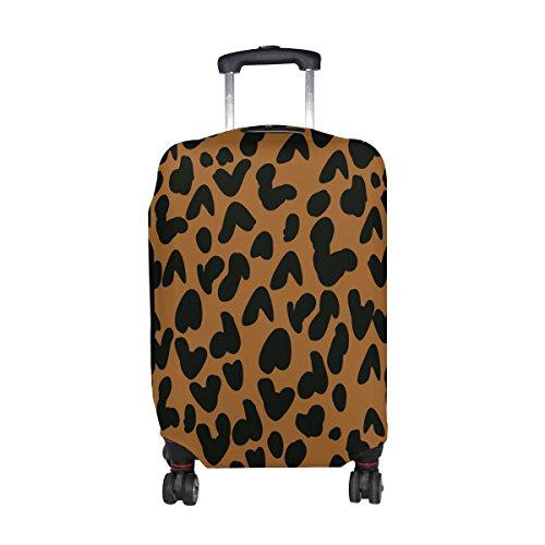 COOSUN Piel de leopardo de impresión equipaje de viaje cubiertas protectoras lavable Spandex equipaje Maleta Cubierta - Se adapta a 18-32 pulgadas M 23-26 en Multicolor
