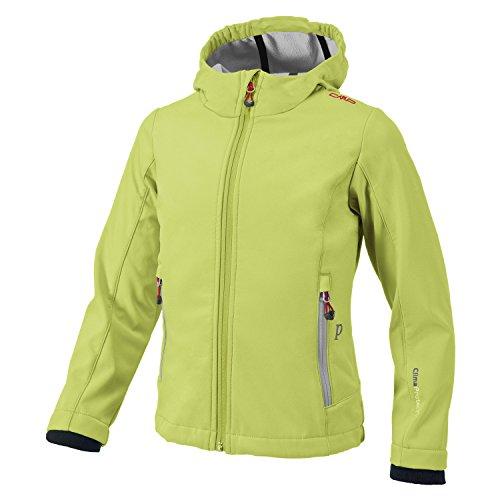 CMP Softshell-Regen-Outdoor-Jacke für Kinder Maria, Farbe:Acido-Ice, Größe:176