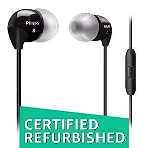 (Certified Refurbished) Philips SHE3595BK/00 in-Ear Headphone with in-Line Mic (Black)