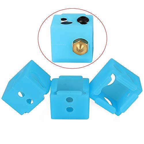 FYSETC 3D-Druckerteile, MP Select Mini V2, Silikonsocke, BP6 Heizblock, Hitzeschutz, Schutz für Monoprice MP Select Mini V2 MP Mini Delta, 3 Stück -