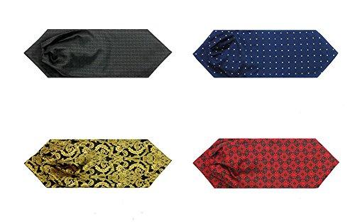 Kissing U Floral Cravat Ascot Soie Écharpes d'hommes Messieurs Paisley Jacquard Tissé Suit Accessoires 18