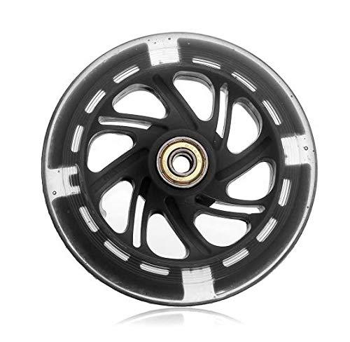 MYAMIA 120Mm Led Flash Light Up Räder Für Roller Inline Skates 2 Abed-7 Bearing-Schwarz