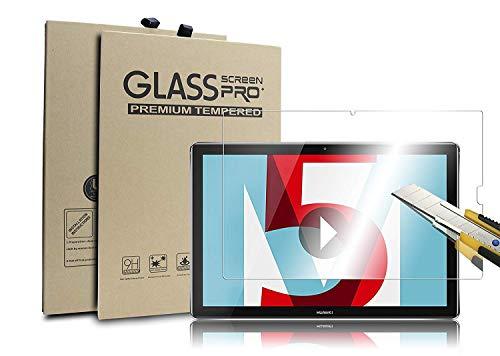 Supremery Display Glas Folie für Huawei MediaPad M5 Lite (10,1 Zoll) Schutzfolie Panzerglas extra Hart gegen Kratzer & Stürze - Blasenfrei HD Clear (Premium Qualität)